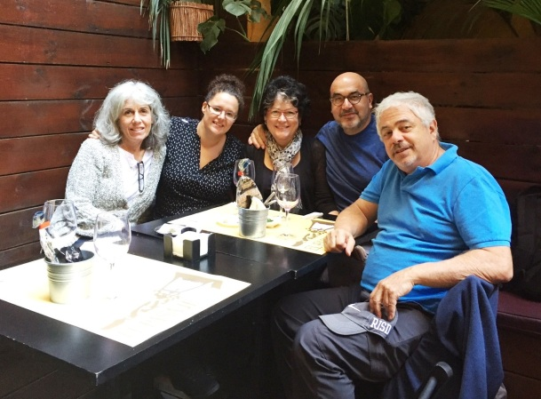 With Sherry, Sylvia, Heinz and Peter