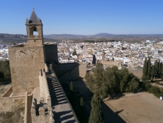 Tower keep and views of Antequera